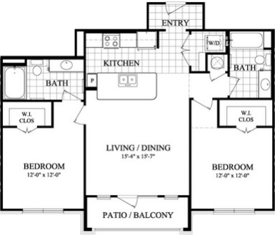 Two bedroom Apartments in Sugarland TX
