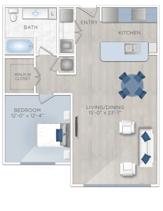 One bedroom apartments