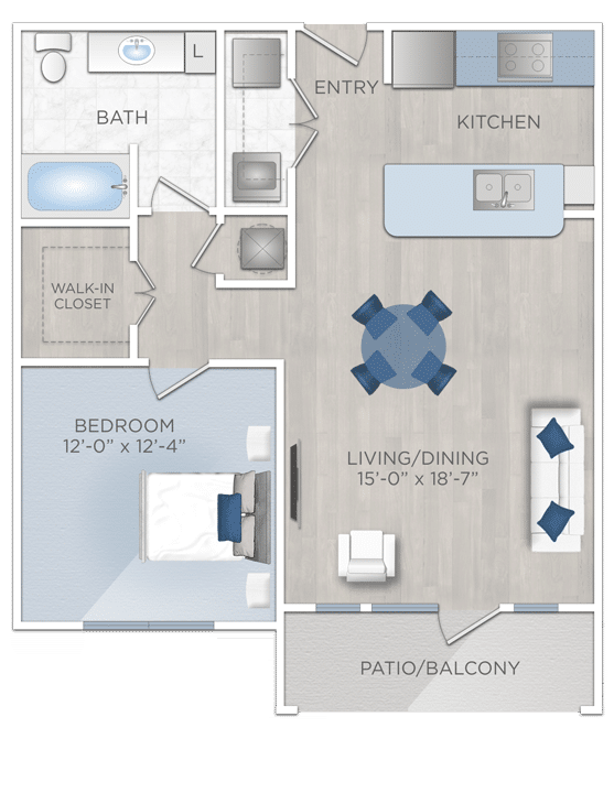 One bedroom apartmnts